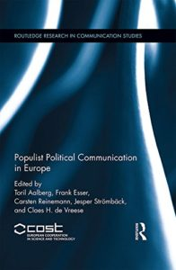 "Ny bok: ""Populist Political Communication in Europe"""