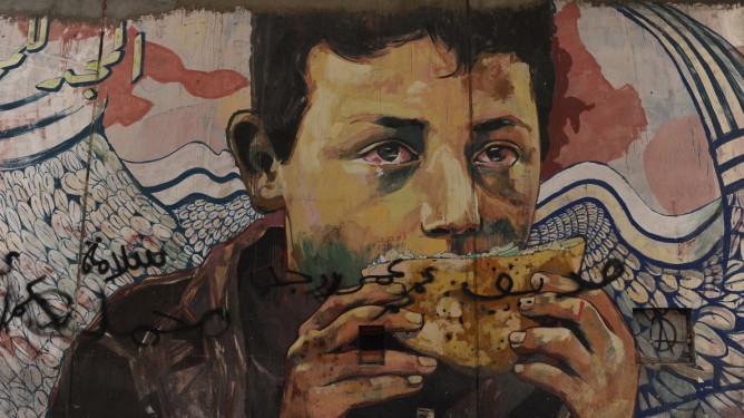 gutt vegg brød