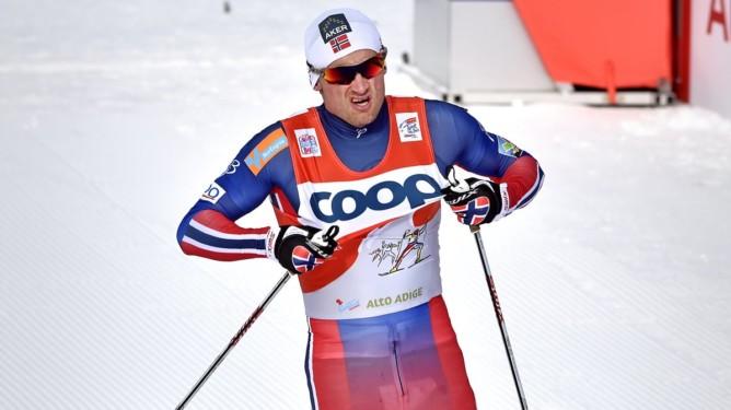 Tour de ski.  25 km jaktstart. Seier til  Petter Northug. Her over mål der han viser frem Coop-reklamen. FOTO: BJØRN S. DELEBEKK,VG.
