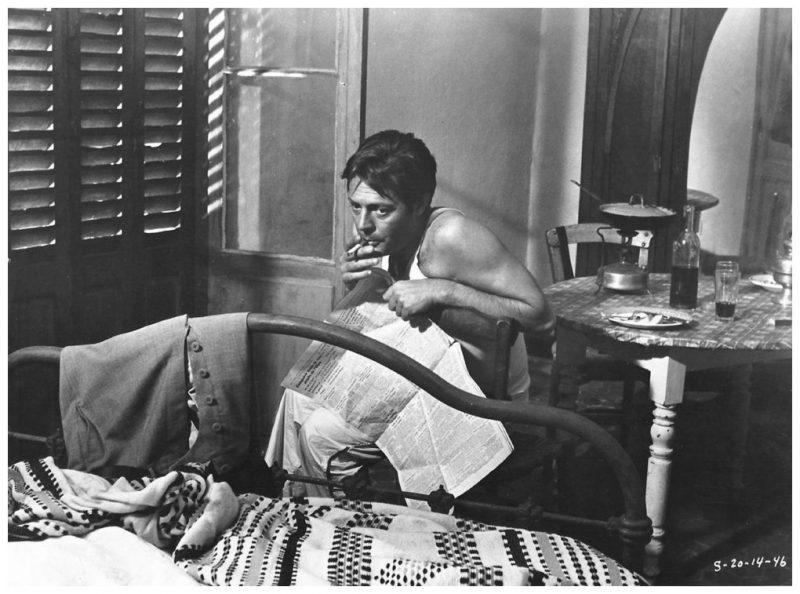 Lo Straniero fra 1967 av Luchino Visconti. Her med Marcello Mastroianni.