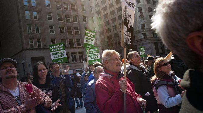 Middelklasse USA protest