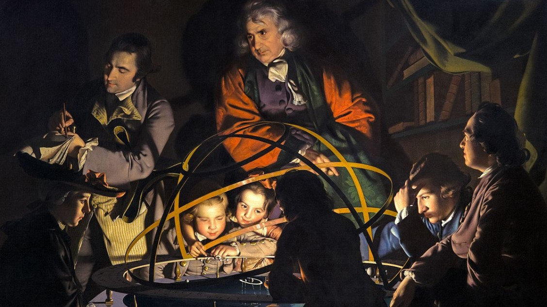 A Philosopher Lecturing on the Orrery, by Joseph Wright of Derby