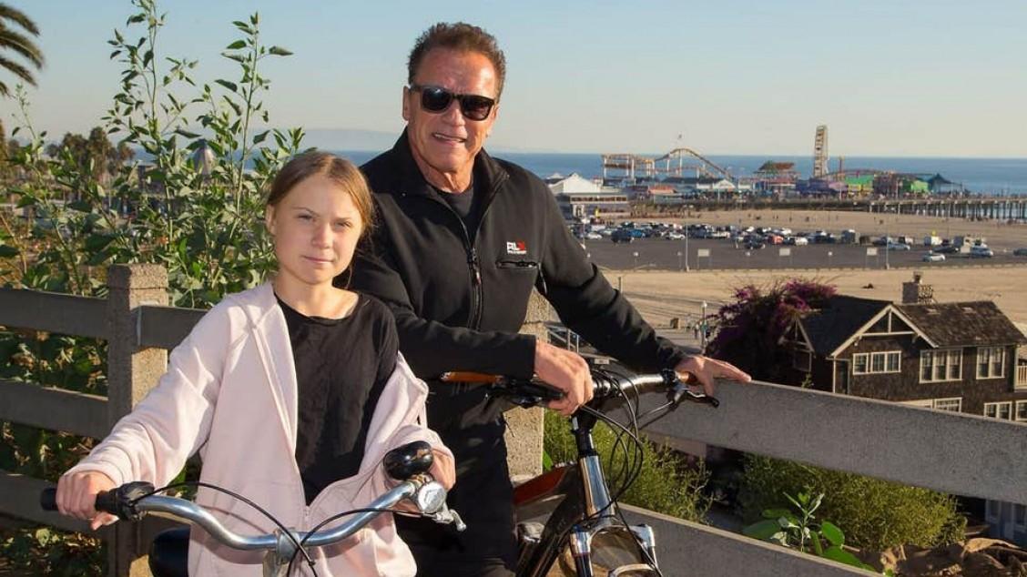 Arnold Schwarzenegger, Greta Thunberg