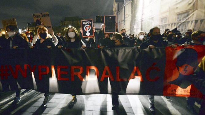 Abort Polen demonstrasjon