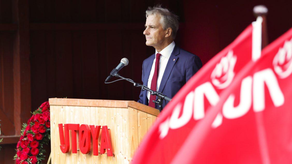 Utøya: 22.juli markering. Tale ved Ap leder Jonas Gahr Støre.