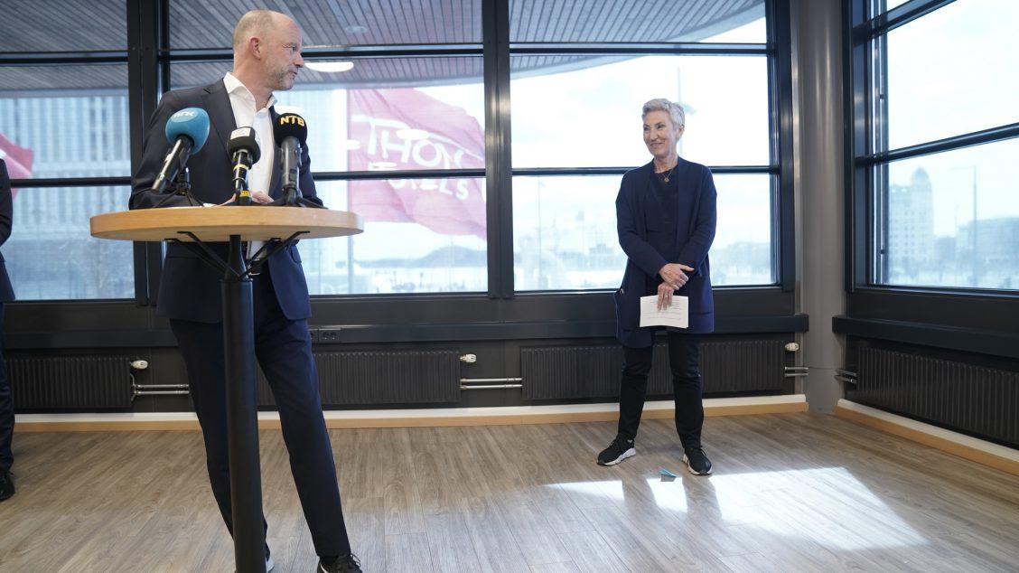 NHO-leder Ole Erik Almlid og LO-leder Peggy Hessen Følsvik
